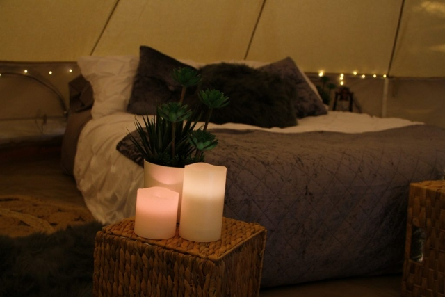Luxury glamping candles